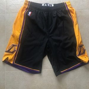 Authentic Laker practice basketball shorts